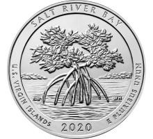 США 25 центов 2020. 53-й парк. Национальный исторический парк и экологический заповедник Бухта Солёной реки