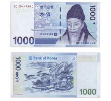 Южная Корея 1000 вон 2007
