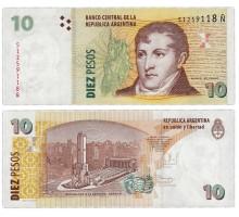 Аргентина 10 песо 2014