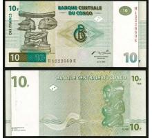 Конго 10 франков 1997