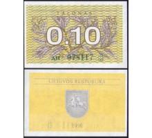 Литва 0,1 талона 1991