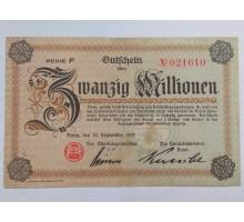 Германия (Рейнланд) 20000000 1923 нотгельд