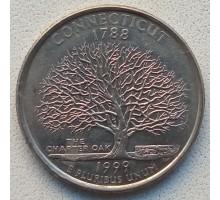 США 25 центов 1999. Штаты и территории. Коннектикут