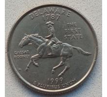 США 25 центов 1999. Штаты и территории. Делавер