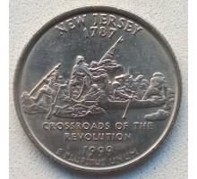 США 25 центов 1999. Штаты и территории. Нью-Джерси