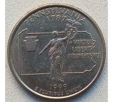 США 25 центов 1999. Штаты и территории. Пенсильвания