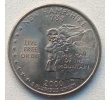 США 25 центов 2000. Штаты и территории. Нью-Хэмпшир