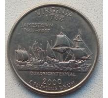 США 25 центов 2000. Штаты и территории. Вирджиния