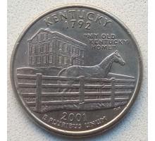 США 25 центов 2001. Штаты и территории. Кентукки
