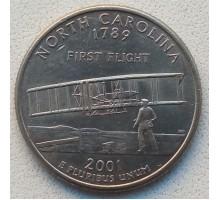 США 25 центов 2001. Штаты и территории. Северная Каролина