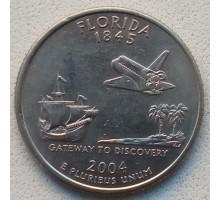 США 25 центов 2004. Штаты и территории. Флорида