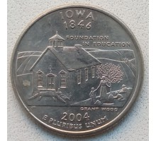 США 25 центов 2004. Штаты и территории. Айова