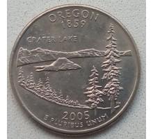 США 25 центов 2005. Штаты и территории. Орегон