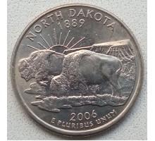 США 25 центов 2006. Штаты и территории. Северная Дакота