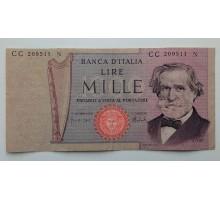 Италия 1000 лир 1969