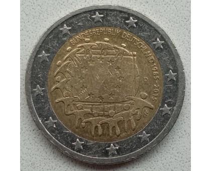 Германия 2 евро 2015. 30 лет флагу Европейского союза