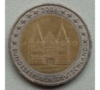Германия 2 евро 2006. Голштинские ворота в Любеке, Шлезвиг-Гольштейн