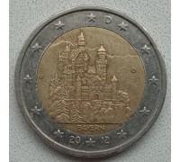 Германия 2 евро 2012. Замок Нойшванштайн, Бавария