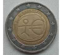 Словакия 2 евро 2009. 10 лет монетарной политики ЕС (EMU) и введения евро