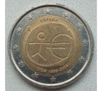 Испания 2 евро 2009. 10 лет монетарной политики ЕС (EMU) и введения евро