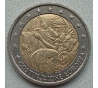 Италия 2 евро 2005. 1 год с момента подписания европейской Конституции
