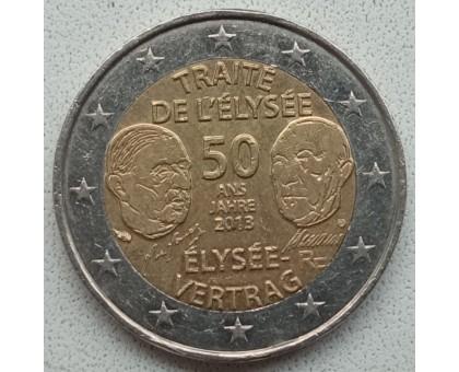 Франция 2 евро 2013. 50 лет подписания Елисейского договора