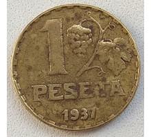 Испания 1 песета 1937