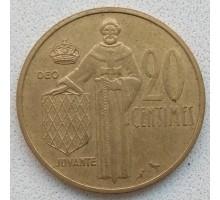 Монако 20 сантимов 1962-1995