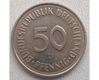 Германия (ФРГ) 50 пфеннигов 1989 D