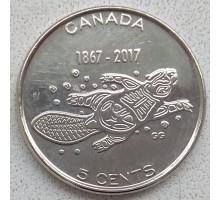 Канада 5 центов 2017. 150 лет Конфедерации Канада - Живые традиции