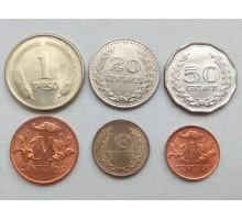 Колумбия 1967-1979. Набор 6 шт
