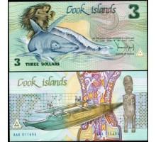 Остров Кука 3 доллара 1987