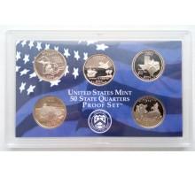 США годовой набор квотеров 2004 пруф