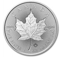 Канада 5 долларов 2018. Кленовый лист. Серебро