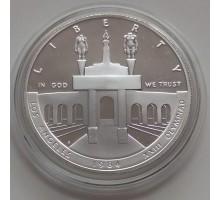 США 1 доллар 1984. XXIII летние Олимпийские Игры, Лос-Анджелес 1984 серебро