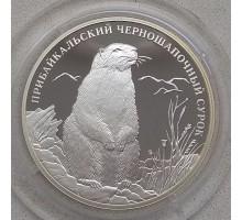 Россия 2 рубля 2008. Прибайкальский черношапочный сурок