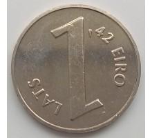 Латвия 1 лат 2013. Паритет монет