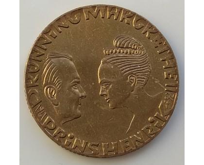 Дания 20 крон 1992. 25 лет свадьбе принца Хенрика и королевы Маргрете II