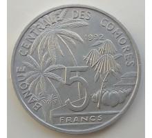 Коморские острова 5 франков 1984-1992