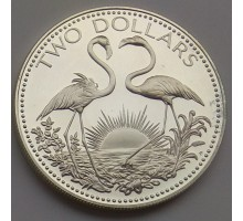 Багамы 2 доллара 1974 серебро