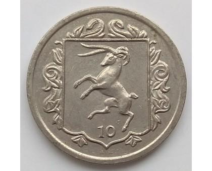 Остров Мэн 10 пенсов 1985-1987