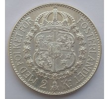 Швеция 2 кроны 1934 серебро