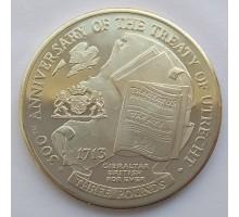 Гибралтар 3 фунта 2013. 300 лет Утрехтскому мирному договору