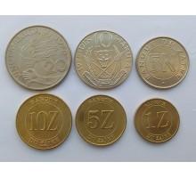 Заир 1976-1988. Набор 6 монет