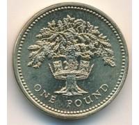Великобритания 1 фунт 1987-1992