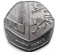 Великобритания 50 пенсов 2008-2015