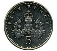 Великобритания 5 пенсов 1998-2008