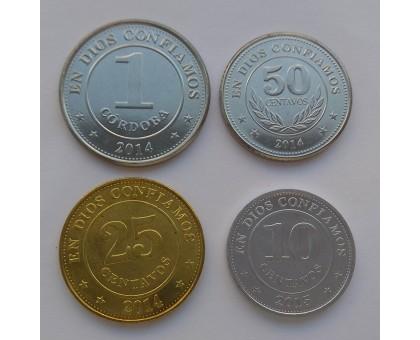 Никарагуа 2014-2015. Набор 4 шт