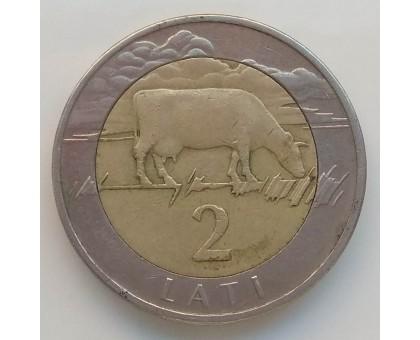 Латвия 2 лата 1999-2009