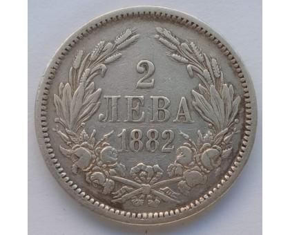 Болгария 2 лева 1882 серебро